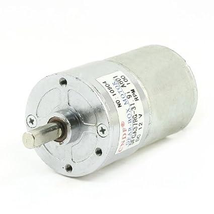Amazon.com: eDealMax 37mm 12V DC 100 RPM de velocidad alta de par caja de engranajes del Motor eléctrico: Automotive