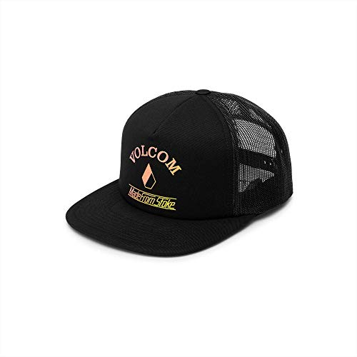 Volcom Junior's Women's Stoke Made Adjustable Trucker Hat, Black, One Size Fits All ()