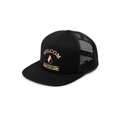 Volcom Junior's Women's Stoke Made Adjustable Trucker Hat, Black, One Size Fits All