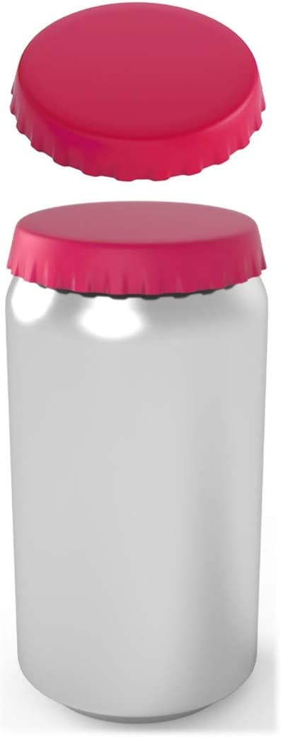 Silicone Soda Can Lids – Can Covers – Can Caps – Can Topper – Can Saver – Can Stopper – Fits standard soda cans (2 Pack, Pink)