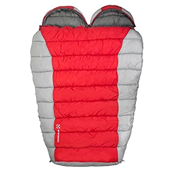Winterial Double Mummy Sleeping Bag for Camping and Backpacking, 2 Person Double Sleeping Bag