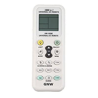 GNW Universal A/C Air Conditioner Conditioning Remote Control Controller 1000 in 1 for MITSUBISHI TOSHIBA HITACHI FUJITSU DAEWOO LG SHARP SAMSUNG ELECTROLUX SANYO