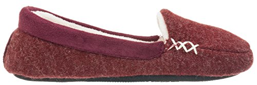 Isotoner Womens Microsuede & Heather Knit Marisol Moc Henna