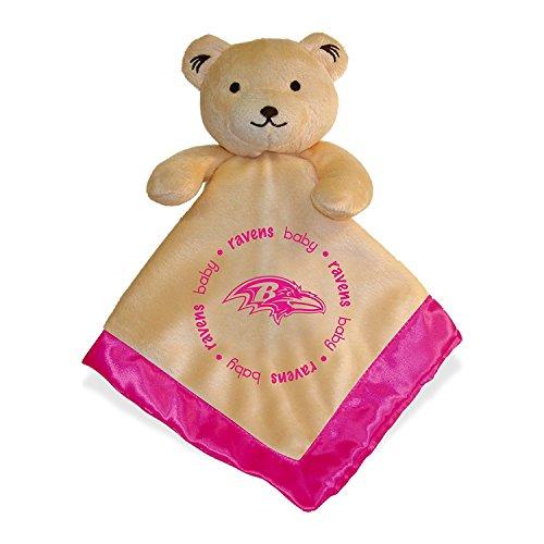 Baltimore Ravens Pink Baby Security Snuggle Bear Blanket - 14