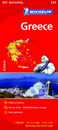Greece Map (Michelin National Map) (Greece Map)