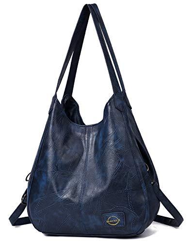 Handbag for Women 3 Compartments Faux Leather Hobo bag Multiple Pocket Shoulder bag Tote Purse ()