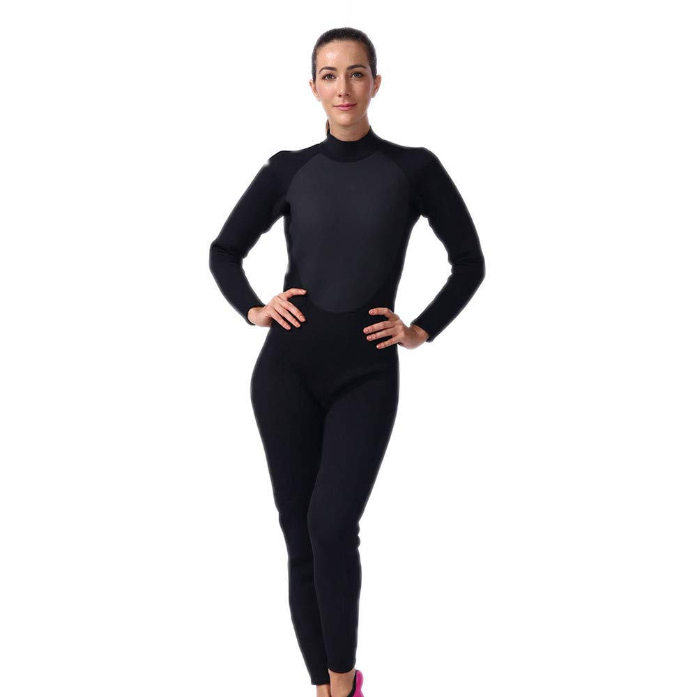 QYY Women'S Siamese Surfsuit, UV Predection Women'S Diving SuitSuitable For Swimming Scuba Diving Snorkeling Surfing One-Piece Swimsuit