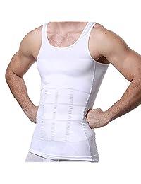 Camiseta Interior Deportiva para Reducir Tallas en el Torso, Faja de Compresión Modeladora de Abdomen para Hombre, Playera Abdominal Reductiva para Ejercicio