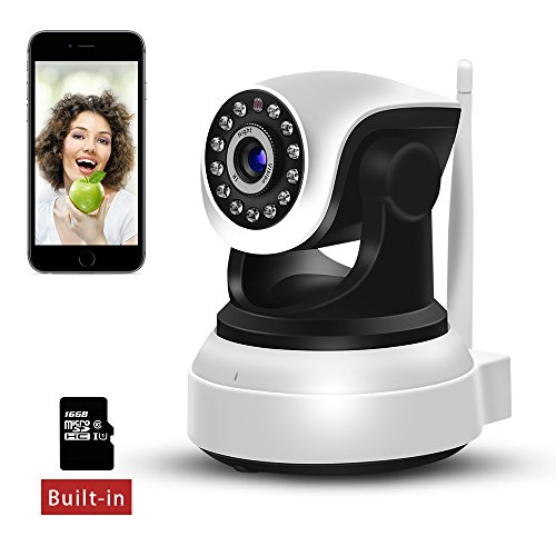 Sdeter WiFi IP Camera 720P HD Wireless Indoor Home Security Surveillance Camera with Night Vision Motion Detection...