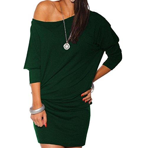 Più Womens Di Spalla Dell'anca Mini Rigonfio Vestito Dalla Verde Il Comodi Dimensioni Pacchetto rvUwqIr