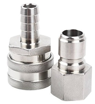 Stainless Steel Brewing Quick Disconnect Set