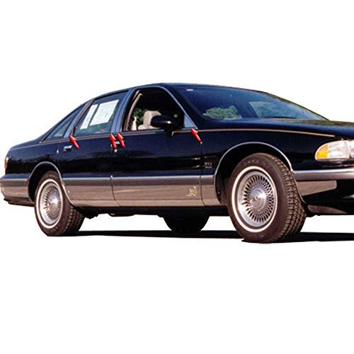 Elite Auto Chrome SS Pillar Posts w/Rear&Triangles fits 1991-97 Chevy Caprice 4D ()