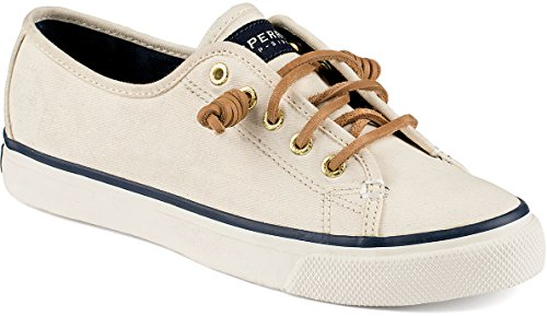 Sperry Top-Sider Women's Seacoast Fashion Sneaker, Ivory, 6 M US