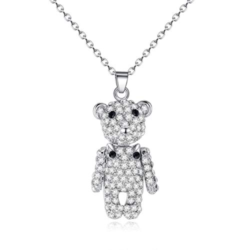 (Fasion Guard Bear Necklace Inlaid Pet Pendant Exquisite )