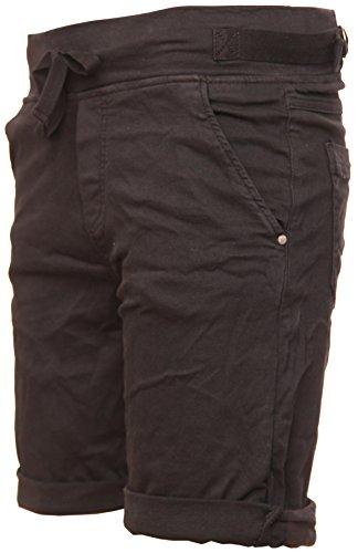 Cotton BASIC Bermuda Schwarz de Stretch Shorts Apxpg8SYc1