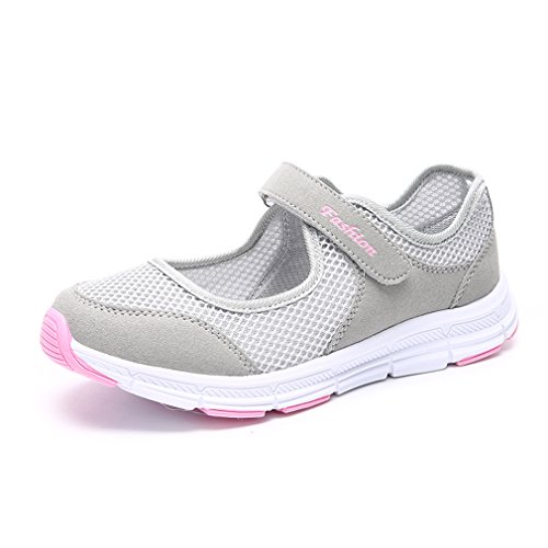 Shoes Flat Walking Casual on Trainers Sneakers Mary Grey Light Slip Shoes Jane Womens Shoes CARETOO Breathe Performance TB0Pqw