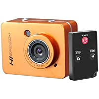 PyleSports Hi-Speed HD 1080P Action Camera Hi-Res Digital Camera/Camcorder with Full HD Video, 12.0 Mega Pixel Camera & 2.4 Touch Screen (Orange Color)