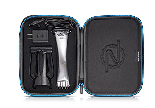 Trimmer Blue Water (Supremery Case for Philips Norelco Bodygroom Series 7100 Shaver/Trimmer, BG2040 Case Cover with zipper and handwrist - Water-repellent in black/blue)