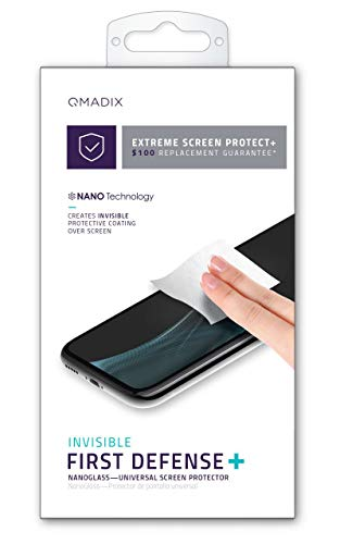 Qmadix $100 Replacement Guarantee Invisible First Defense Liquid Glass Screen Protector for Apple iPhone 6/6s, 7/7 Plus, 8, X, Xs, Xr,11 and Samsung Galaxy S & Samsung Note. from Qmadix