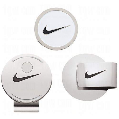 Nike Hat Clip and Ball Marker (White/Black) ()