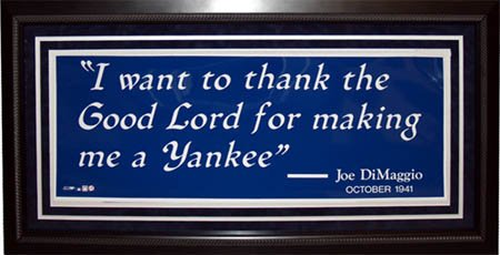 Thank The Good Lord For Making Me A Yankee