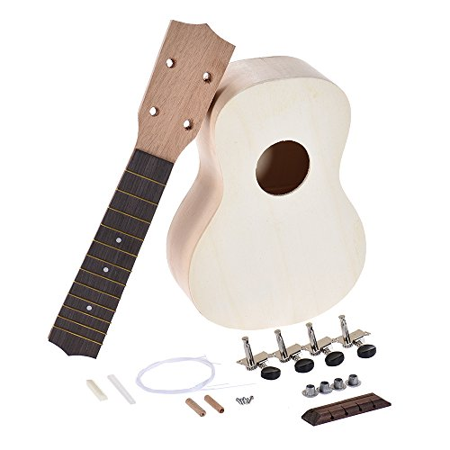 Body Maple Neck Rosewood Fingerboard - Walmeck DIY Ukelele Ukulele Hawaii Guitar DIY Kit Maple Wood Body & Neck Rosewood Fingerboard with Pegs String Bridge Nut