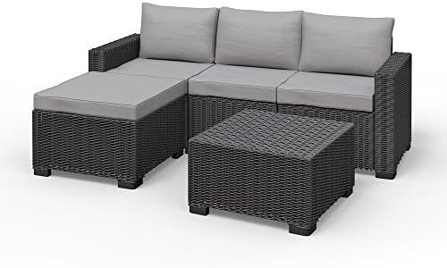 Allibert California esquina Lounge Set Muebles de Jardín Ratán. Asiento Grupo: Amazon.es: Jardín
