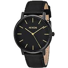 Nixon Unisex The Porter Leather All Black/Gold