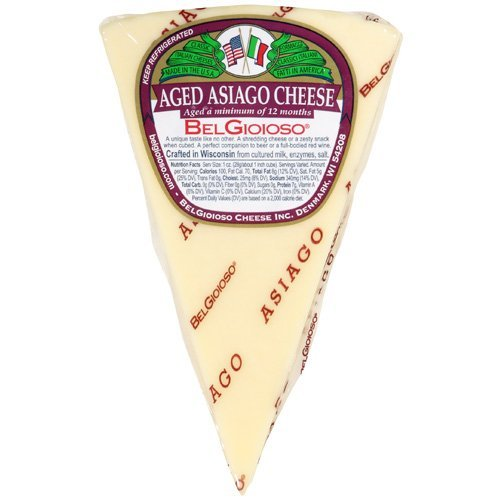 BELGIOIOSO Cheese Wedge Asiago, 5 Ounce (Pack of 12)