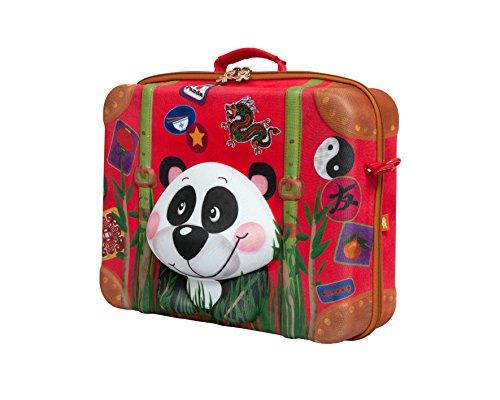 okiedog wildpack 80333 maleta para niños con motivo 3D DRAGÓN, rojo Wei