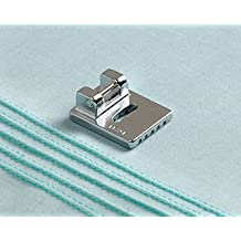 Snap-on 5-groove Pintuck Foot Fits All Low Shank Snap-on Singer*, Brother, Babylock, Viking (Husky Series), Euro-pro, Janome, Kenmore, White, Juki, Bernina (Bernette Series), New Home, Simplicity, Necchi, Elna and More!