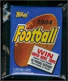1984 TOPPS FOOTBALL CARDS WAX PACK - 1 PACK OF 15 CARDS - JOHN ELWAY & DAN MARINO ROOKIE YEAR