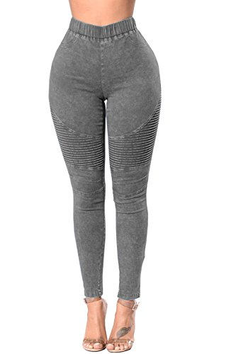 Jeans Grey Haute Taille Pousse Skinny Les Stretch Des Jeans UcCUIF