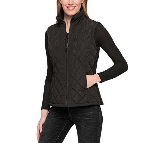 Andrew Marc Ladies' Quilted Vest (XL, Black)