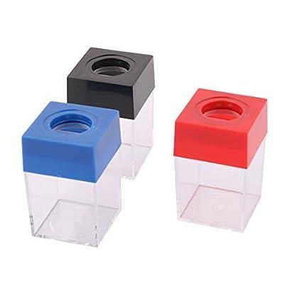 Multicolor de eDealMax cuadrados plásticos Oficina soporte de Papel en Forma de pinza dispensador envase de