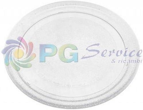 Plato Cristal Horno Microondas 24,5 cm: Amazon.es: Hogar