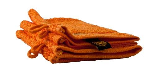 Gözze New York Waschhandschuh, 4er Set, 100% Baumwolle, orange, 17 x 24 cm, 550-0764-A1