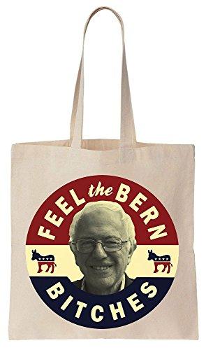 Feel The Bern Bitches Bernie 2016 Sacchetto di cotone tela di canapa ... ba50b4e9a97