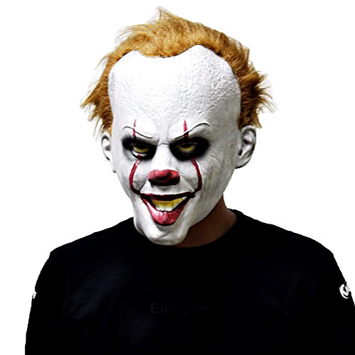 Mask Full Face Party Clown Pennywise IT Masks Movie Cosplay Latex Rubber Party Props Halloween -