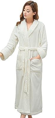 Rela Bota Women's Plush Soft Warm Fleece Microfiber Bathrobe Robe