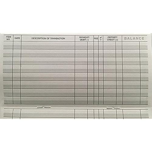 transaction register booklets
