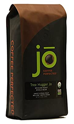 TREE HUGGER JO: 12 oz, Organic Central American Rainforest Whole Bean Coffee, Fair Trade Certified, Medium Roast, USDA Certified Organic, 100% Arabica Coffee, NON-GMO