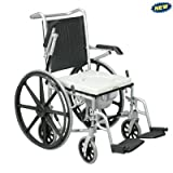 All-in-One Shower Commode Wheelchair Quick Release Wheels: Yes