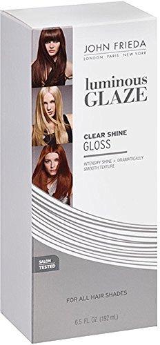 (John Frieda Luminous Glaze Clear Shine Gloss 6.5 oz (Pack of 4))