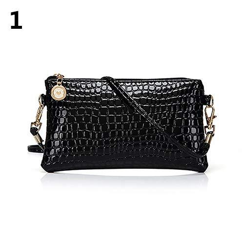 Women Faux Leather Zipper Clutch Mini Cross Body Shoulder Bag Phone Bag by Shengyuze (Image #6)