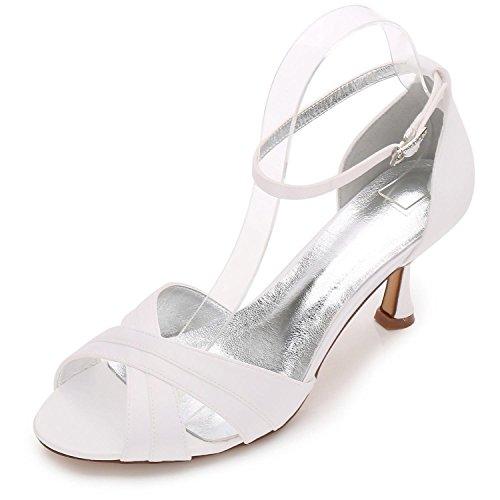 Donna yc Ivory Size Shoes argento Ml17061 blu Da Mocassino L avorio 33 Peep Toe Party td6qTtBax