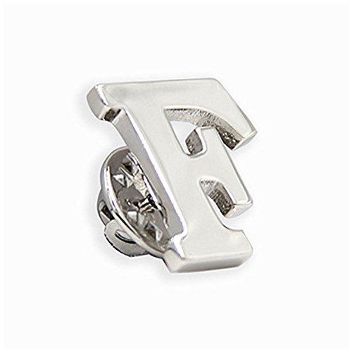 (MINGHUA Monogram Alphabet Letters Lapel Pin Badge (F))
