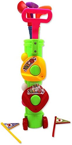 子供ゴルフセット ゴルフおもちゃ 子供のプラスチック製ゴルフおもちゃの幼児のゴルフゲーム玩具セットマルチカラーキュー ゲームレジャーファミリースポーツ (Color : Multi-colored, Size : Free size)