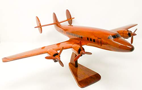 Super G Constellation Replica Airplane Model Hand Crafted with Real Mahogany Wood