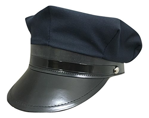 c09e1dd7c64 Jacobson Hat Company Chaffeur Chauffeur Hat Navy Blue Limo Driver Police  Cop Cap Costume Accessory